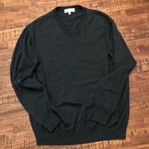 Turnbury V-Neck  Wool Long Sleeve Sweater